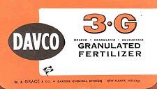 3-G VINTAGE 1964 DAVCO GRANULATED FERTILIZER NOTE PAD BOOKLET CALENDAR