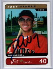 2002 David Wright RC New York Mets Justifiable Minors Hand Signed Autograph