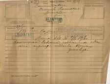 Telegramma Autografo Senatore Giovanni Ferro Luzzi Corte d'Appello Palermo 1899