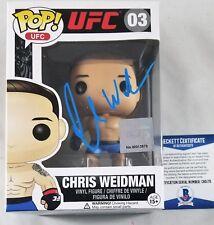 Chris WEIDMAN SIGNED Funko Pop Autograph BECKETT BAS COA UFC MMA TOPPS TOY