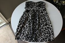 CHARLOTTE RUSSE*Mini Straples Party/Cocktail Dress*Animal Print*Black/Gray*Small