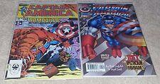 Captain America #1 Liefeld Variant (1996) & #308 Heroes Reborn Secret Wars II