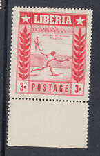 Liberia # 347 Proof Red ONLY MNH Sports Tennis