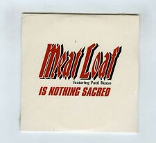CD SINGLE PROMO (NEW)MEAT LOAF FEATURING PATTI RUSSO IS NOTHING SACRED