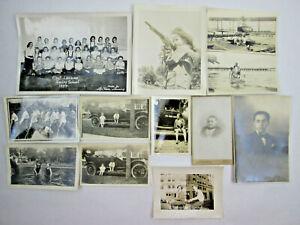 Vintage Black & White Photographs 1920s - 1950s Classrooms, Seaplane, Cars, Etc.