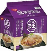 Nissin Raoh Pork bone soy sauce Ramen Premium  Instant Noodles 5 Servings Japan