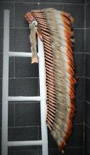 PRICE REDUCED Z13 Extra Large Three color Brown Feather Headdress(43 inch long)