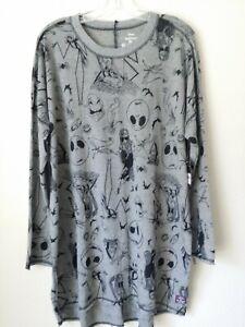 Disney Nightmare Before Christmas long Sleeve Night Shirt Pajamas New L 12/14