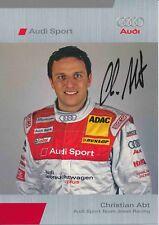 Christian Abt  Audi  Auto Motorsport Autogrammkarte original signiert 378548