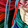 Round 3.5mm Leather Cord Braided Thread For Bracelet Necklace Jewelry Making