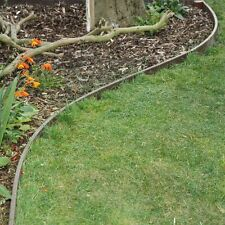 GARDEN EDGING - 100mm high Brown or Charcoal Recycled plastic. Curves easily