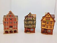 3 Vintage HO Vollmer Buildings Assembled