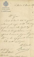 Manoscritto Nozze del Principe Ereditario Vittorio Emanuele III di Savoia 1896