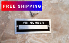 VIN NUMBER DATA PLATE ID HOT ROD CHEVROLET DODGE PLYMOUTH GMC FORD TRAILER TAG