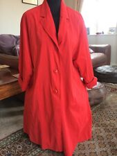 Cherry Red Max Mara Vintage Trench Coat Mac