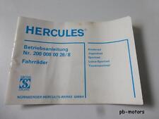 Hercules Betriebsanleitung Fahrrad Luxus-Sportrad Kinderrad 2000080026/8