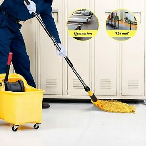 COLOUR CODED SYR KENTUCKY PROFESSIONAL CLEANING MOP HANDLE HEAVY DUTY COTTON
