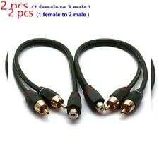 Sydien 2 Pcs 12 Inches 1 Female to 2 Male RCA Speaker Splitter Dual Shielded...