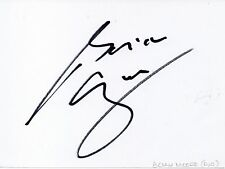 BRIAN MOORE - Signed White Card - SPORT - RUGBY UNION