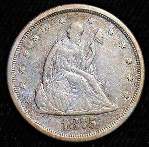 1875-S 20 Cents. High Grade!