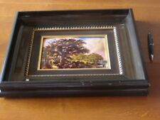 GRAND CADRE EMAUX LIMOGES DECOR PAYSAGE
