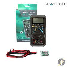 Kewtech kt117 digital AC/DC 600v Auténtico RMS Multímetro - Resistencia & DIODO