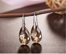 Osiana  Earring with Authentic Swarovski Crystal silver plated earring hook
