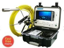 """Sewer Drain Pipe 1"""" Waterproof Inspection Camera 100FT/30M Cable LCD 7""""  USB SD"""