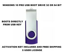 Windows 10 Professional Full Version USB 32/64 bit with 5 user
