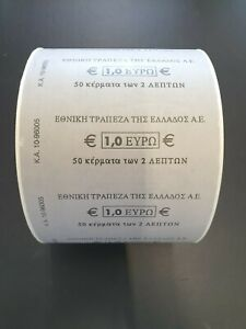 GREECE - Whole Euro coin Roll  - National Bank of Greece - NEVER SEEN BEFORE!!