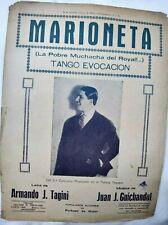 Carlos Gardel Cover Marioneta Original Tango Sheet Music Argentina 1930s