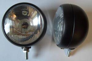 Scheinwerfer 2 St. Ø 110 mm Lichtaustritt Glas gewölbt Schlepper Traktor   50049
