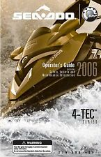 Sea-Doo Owners Manual Book 2006 4-TEC SERIES GTX 4-TEC SERIES, WAKE, RXT & RXP