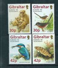 Gibraltar 1999 Europa - Nature Reserves & Animals set of 4 unmounted mint