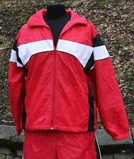 Womens Lavon Reversible Track Jacket Sz M Red Nylon Exercise Running Jogging