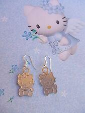 Pendientes Hello Kitty plata Laminada 925. NUEVO!!! + bolsita Regalo