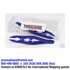 NEW Blue Plastic Disposable Tweezers Wholesale (First Aid Supply) 100 pieces/Lot