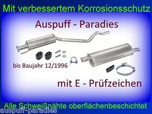 Abgasanlage Auspuff für Opel Astra F CC 1.4i - 2.0i Schrägheck bis 12/1996 +Kit