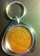 Awesome Collectible Australian 1932 Melbourne Mint Birthday Penny Key Ring