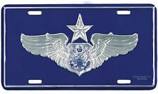 US AIR FORCE SENIOR AIRCREW OFFICER METAL LICENSE PLATE - MADE IN THE USA!