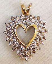 14K YELLOW GOLD HEART PENDANT 1.50 CTS DIAMONDS. (XPV1322-1890)
