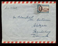 GOLD COAST 1948 SOLO 1/3 FRANKING...COVER to DENMARK