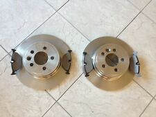 ROVER 75 + MG ZT 99--- TWO REAR SOLID BRAKE DISCS AND BRAKE PADS SET
