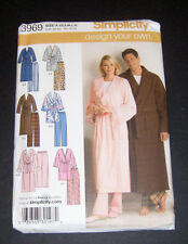 Simplicity Pattern #3969 Misses' Men's & Teens' design your own robe & pants