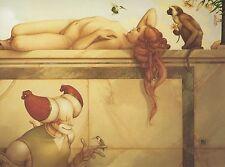 Michael Parkes DAY DREAMS nude woman w hummingbirds fantasy surreal art print