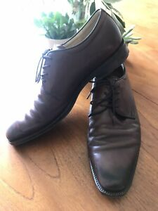 Mens ECCO Brown Leather Lace Up Shoes UK 11 / EU 45, wide fit