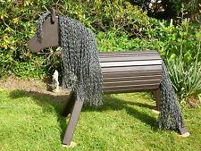 90cm Holzpferd Holzpony Voltigierpferd Spielpferd Pferd Pony wetterfest braun