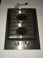 "UNUSED JENN AIR CUSTOM 15"" 2-BURNER GAS COOK TOP STAINLESS STEEL"