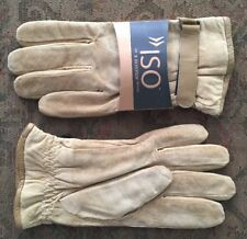 new ISOTONER suede GLOVES sz L large KHAKI tan Suede Leather NWT