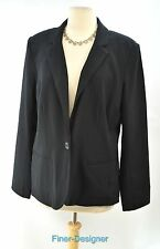 212 Collection Blazer Jacket Suit Coat year round black 1 button womens 16 NEW
